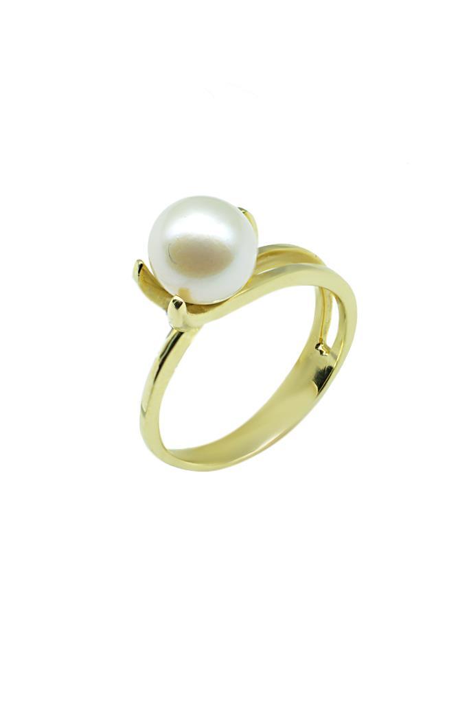 nkj.gr-Χρυσό Δαχτυλίδι με Μαργαριτάρι Κ14-NKJ 6b83cf2a991
