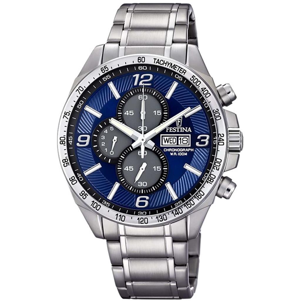 nkj.gr-FESTINA Blue chronograph Stainless Steel Bracelet F6861 3-FESTINA 7e9380dc6c9