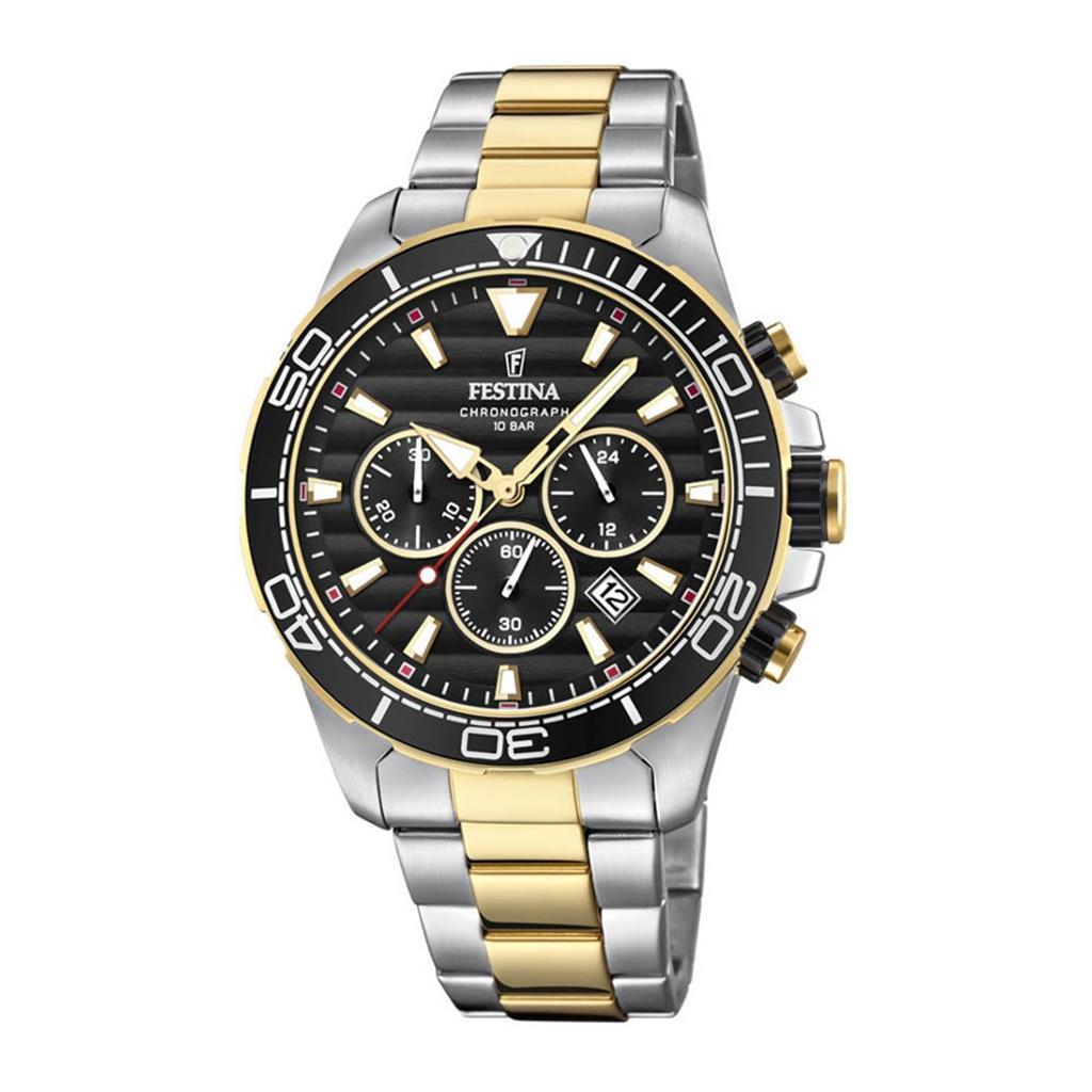 nkj.gr-FESTINA Black chronograph Stainless Steel Bracelet F20363 3 ... 3159cf060f2