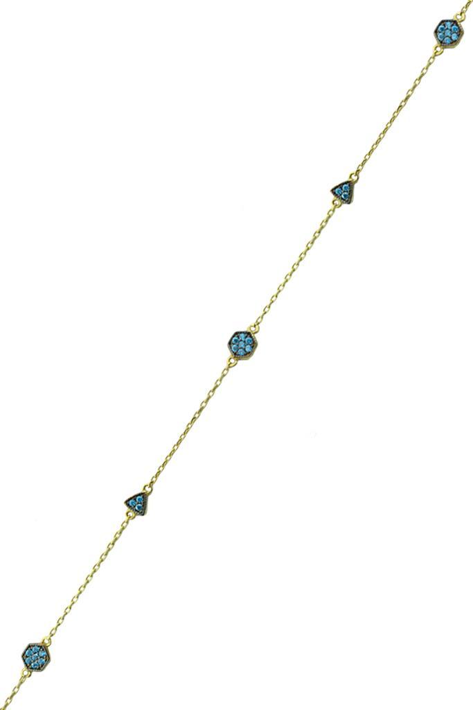 nkj.gr-Βραχιόλι Ματάκι με Μαύρες πέτρες Ροζ Χρυσό Κ14-NKJ 4721a6325c8