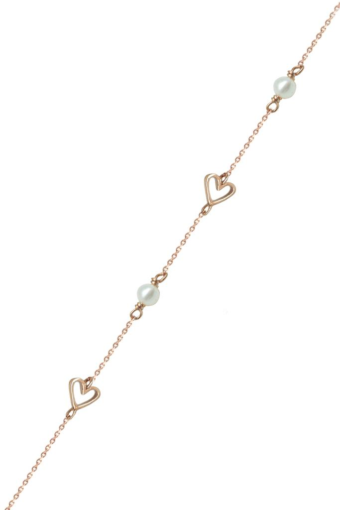 nkj.gr-Χρυσό Βραχιόλι με Καρδιές Κ14-NKJ 8304c85f160