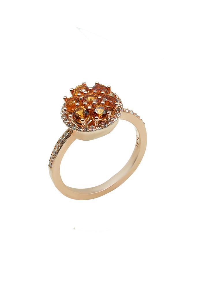 nkj.gr-Ροζ Χρυσό Δαχτυλίδι Κ14 με Ορυκτές Πέτρες-NKJ d3a7fdc77d1