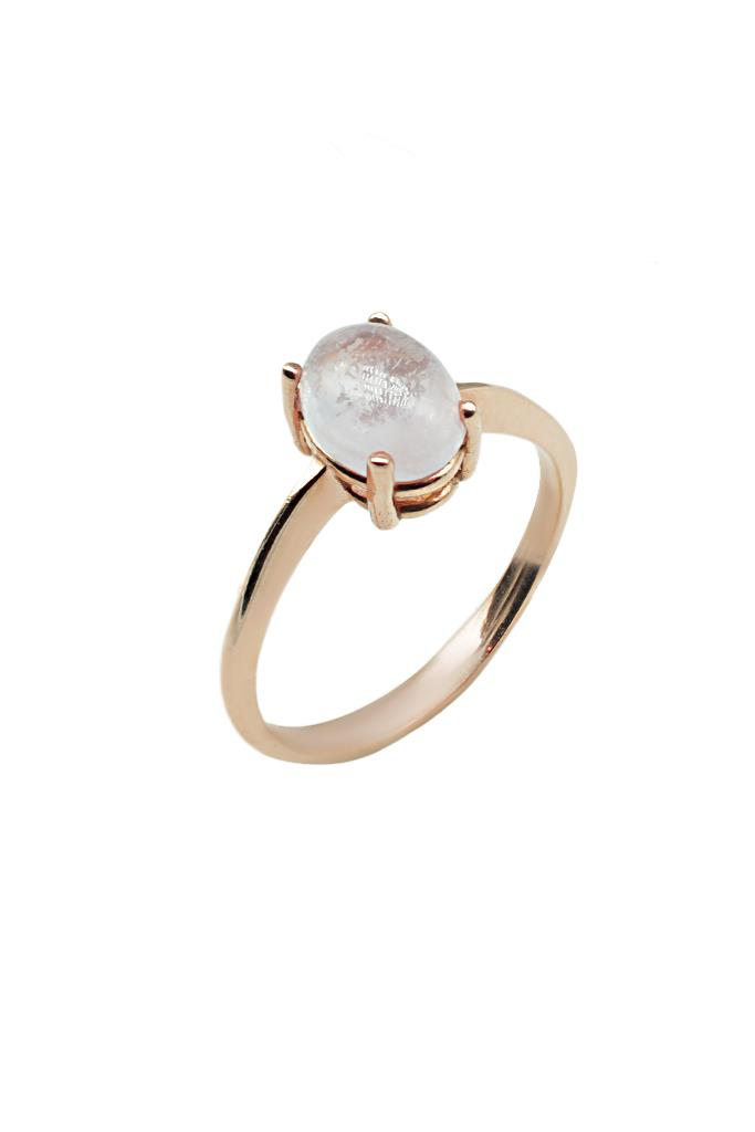 nkj.gr-Ροζ Χρυσό Δαχτυλίδι Κ14 με Πέτρα Quartz-NKJ ee4deaa4076