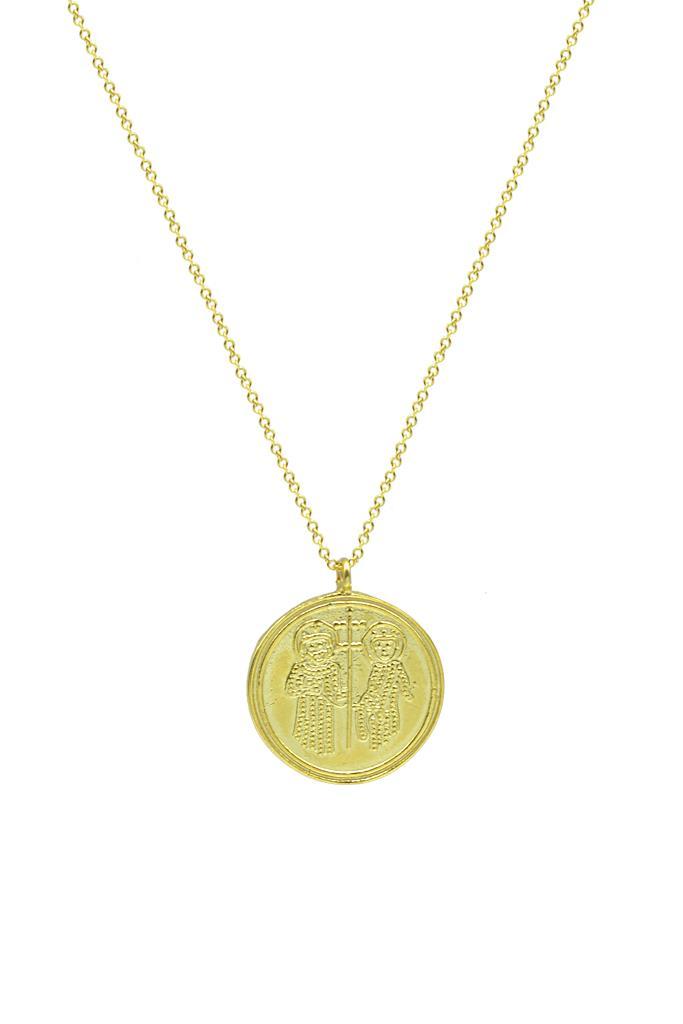 nkj.gr-Κολιέ Χρυσό Κωνσταντινάτο Μενταγιόν 14 Καράτια-NKJ d04d1023b71